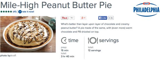 PHILLY peanut butter pie